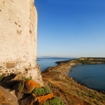 a panoramic view from a barbareschi ancient  tower in the Sinis region