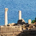 column in Tharros, ancient phoenician city