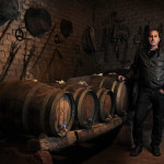 a vernaccia wine producer in his own cellar